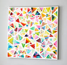 30 best diy wall art projects for your home diy geometric watercolor wall art