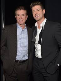 alan thicke robin thicke. Delighful Thicke U0027Goldenu0027 Parents Robin Thicke Shares Throwback Photo Of Mother Gloria  Loring And Late Father Alan With People Magazine
