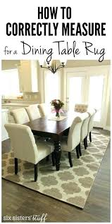 Rug under round dining table Dining Room Round Dining Room Rug Rug Under Dining Table How To Correctly Measure For Dining Room Round Dining Room Rug 93ccbbco Round Dining Room Rug Image Of Area Rug Under Round Dining Table