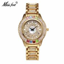 Designer Diamond Watches Miss Fox Ladies Designer Watches Luxury Watch Women 2017 Colorful Watch With Crystals Diamond Gold And Silver Watch Women Store