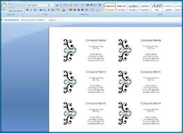 how to create business cards in word ms word create business cards 846