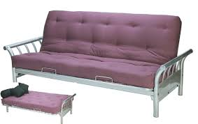 double futon sofa bed. Surf Double Futon Sofa Lounge Bed Frame Silver +Quilted Mattress
