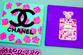 Easy Painting Chanel Perfume Bottle Diy Painting Cute Easy Girly Fun