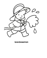 Kleurplaat Brandweerman Bc Beroepen Character En Snoopy