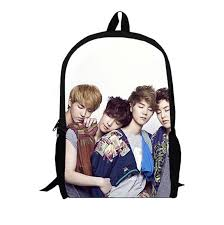 Kpop Exo M Backpack 2017 New Fashion Trendy School Backpacks For