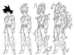 Dragon Ball Z Goku Super Saiyan Coloring Pages With 3 Printable