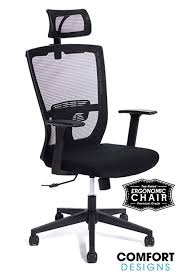 Premium High Back Mesh Office Chair by Comfort Designs | Ergonomic Desk Chair, Lumbar Amazon.com: