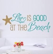 beach theme vinyl wall art