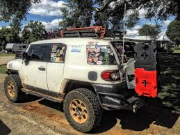 installed the chitown4x4 fj pax mount v2 2 which allows for fuel water or other rotopax variants to be mounted on the rear fj cruiser door