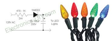 circuit zone com electronic projects electronic schematics diy eliminating led christmas lights flicker