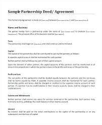 Sample Partnership Agreement Form Salaried Partnership Agreement Template Sample Business Form