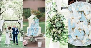 dusty blue succulent filled arizona garden wedding venue at the grove