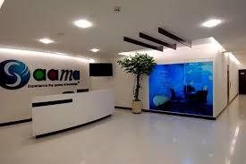 office reception interior. Modern Reception Counter Office Interior Design - D