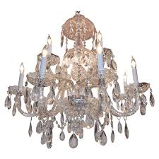 waterford style cut glass and crystal two tier 12 arm chandelier for