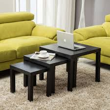nest of tables 3 black gloss coffee table units side end lamp unit furniture