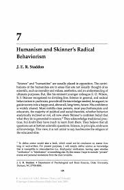 humanism and skinner s radical behaviorism springer inside