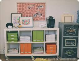 office diy ideas. Modren Diy My Documents And Magazines Got Organized Into Green Orange Containers  On My File Shelf Inside Office Diy Ideas