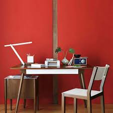 combined office interiors desk. Interior Design And Decorating, Creating Impressive Office With Red Painted Wall Ikea Combined Interiors Desk R