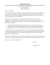 Stunning Cover Letter Sample Logistics Manager For Procurement And