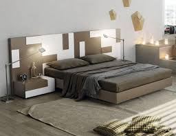 contemporary garcia sabate pixel bed in cappuccino and white opt bedside cabinets