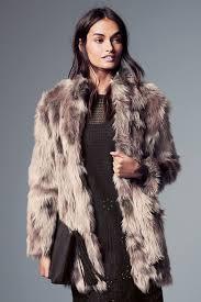 next patched faux fur jacket