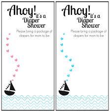 Diaper Shower Invitation Free Printable Nautical Themed Baby Shower Invitation Happy Money
