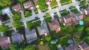 Image result for picture of a neighborhood with lawns