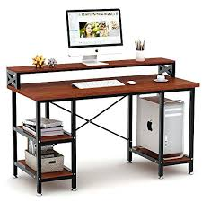 office desk with bookshelf. Computer Desk With Storage Shelves Large Modern Home Office  Bookshelf . Wooden Organizer Shelf