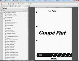 fiat coupe service manual wiring information service repair workshop manual wiring