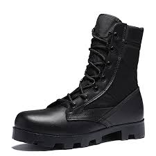 outdoor combat boots special boots high boots leather combat boots breathable desert military boots high
