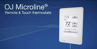 oj microline uwg4 and udg4 touch thermostats for electric floor heating in north america