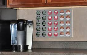 cup storage wall rack for keurig k cup coffe pods model 1216