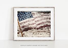 rustic patriotic american flag wall art