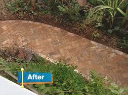 installing traditional brick walkway