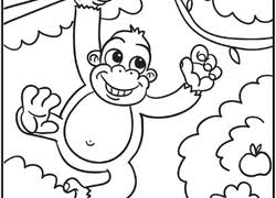 Find cute pages to color that your kid will love. Jungle Coloring Pages Printables Education Com