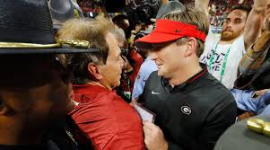 Natty Light Visor Alabama Vs Georgia Nick Saban Kirby Smart Focused On Each