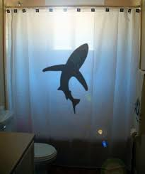 shark shower curtain kids bathroom decor by customshowercurtains