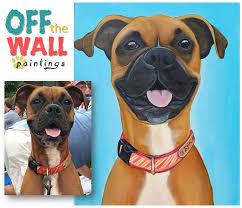 custom pet paintings colorful pet portraits pet portrait boxer dog painting paint
