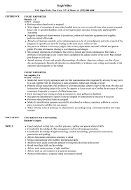 Court Reporter Resume Samples Court Reporter Resume Samples Velvet Jobs 1