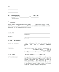 Lease Proposal Letter Fascinating Lease Offer Letter Template Gocreatorco