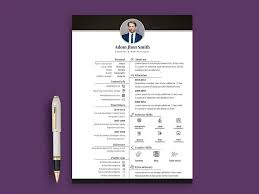 Indesign Creating A Modern Resume Free Professional Photo Resume Cv Template In Photoshop Psd