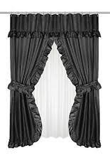 Black shower curtains Taupe Carnation Home Fashions Fscdl16 Lauren Double Swag Shower Curtain Black Ebay Black Shower Curtains Ebay