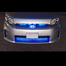Automotive Led Light Strips Custom Blue LED Grill Lighting Kit Neon Glow Strips Front Of CarTruck