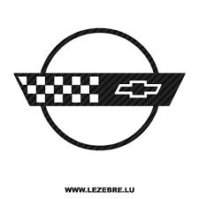 Sticker Karbon Chevrolet Corvette Logo 4