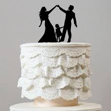 wedding cake toppers. family wedding cake topper (dance /daughter /little girl /child /kid) toppers