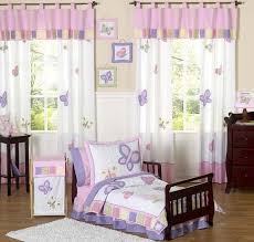 Pink and Purple Butterfly Toddler Bedding  5pc Set
