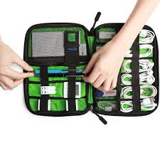 Travel Cable Organizer Portable Electronics Accessories Cases for Hard  Drives, Charging Cords, USB Charger