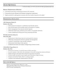 host resume sample - Exol.gbabogados.co