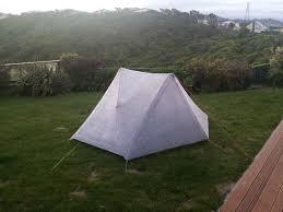 making a 2 man cuben fiber tent backng light