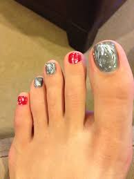 Pedicure Designs Glitter Christmas Toes